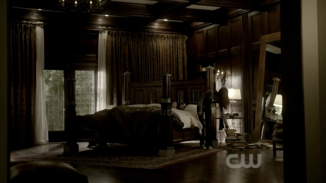 Why, hello, Damon's bedroom. Let's get better acquainted.