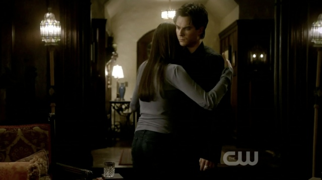 This had the potential to be really sweet if he had returned the hug. Instead it looks mildly comical.