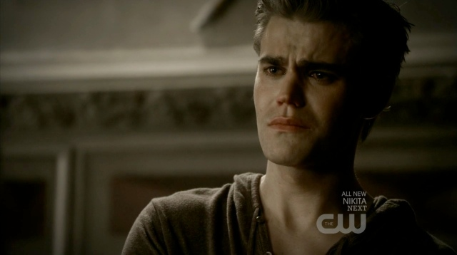 Stefan cry face is so sad.