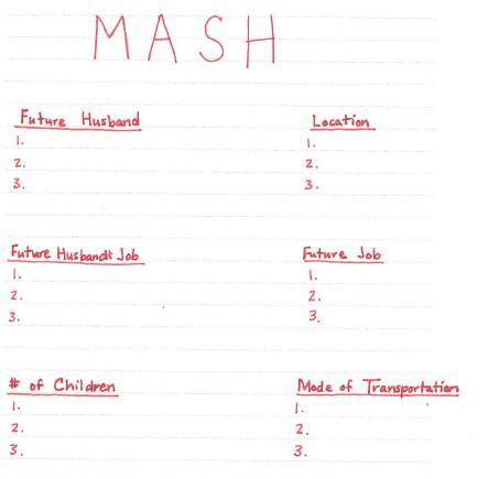 Categories for mash game