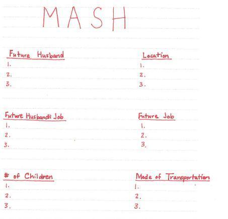 MASH future game! - Quiz