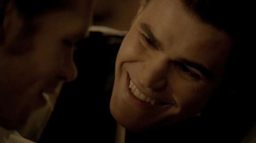 Stefan Salvatore: the only person who is scarier looking when he smiles.