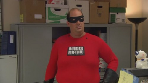 Kevin as Mr. Dunder Mifflin