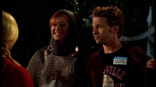 Willow as Joan of Arc and Oz as God