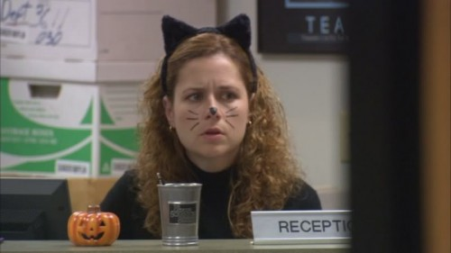 Pam as a cat