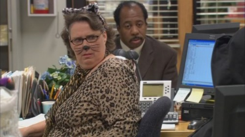 Phyllis as a cat