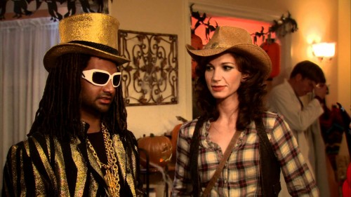 Tom as T. Pain and Wendy as a cowgirl
