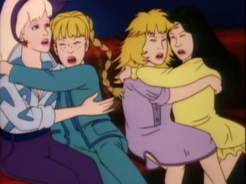 Bonus points to the animators that decided these were the faces of fright.