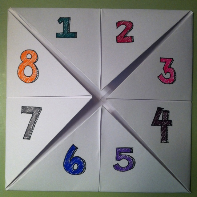 Number each triangle inside.